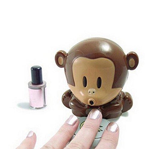 LAAT Secador de Esmalte de uñas Secador de uñas en Forma de Mono Secador de manicuras Herramienta...