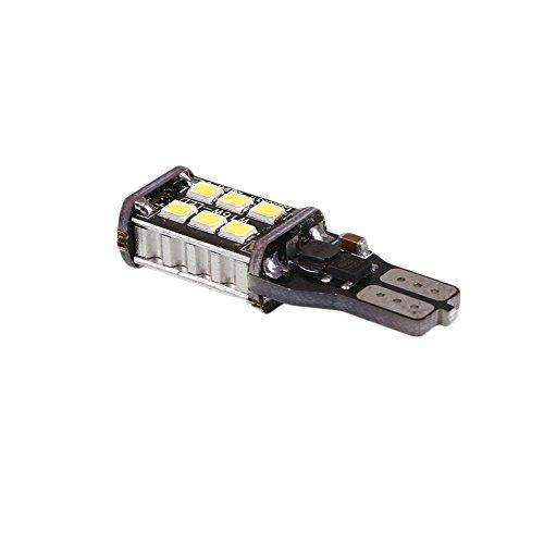 Leaftree T15 LED 15 SMD Ampoule De Voiture Lumière Arrière Lumière Canbus 6000K Blanc Brillant