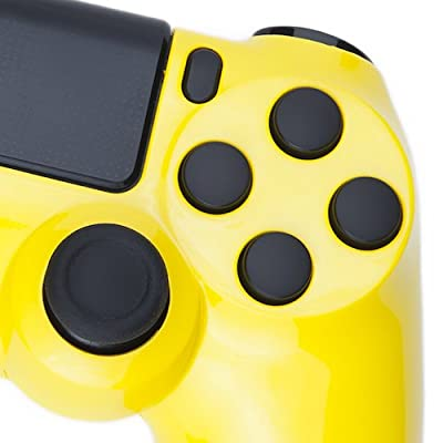 Playstation 4 Custom Controller -Gloss Yellow & Black