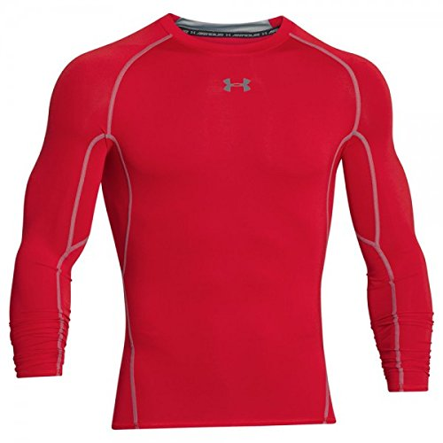 Under Armour Heatgear Compression Longsleeve Shirt red-steel - S