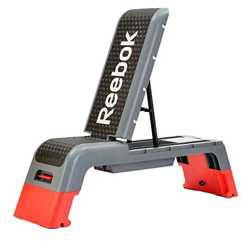 Preisvergleich Produktbild Reebok Fitness Bank  grau/hellrot