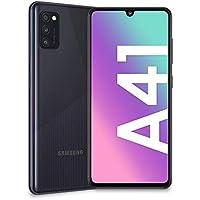 "Samsung Galaxy A41, Smartphone, Display 6.1"" Super AMOLED, 3 Fotocamere Posteriori, 64GB Espandibili, RAM 4 GB, Batteria 3500 mAh, 4G, Dual Sim, Android 10, 152 g, [Versione Italiana], Black"