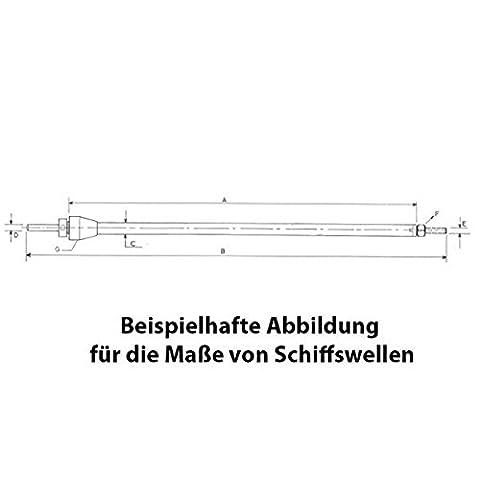 Arbre d'hélice Raboesch 4mm - M4 / 236mm A2PRO