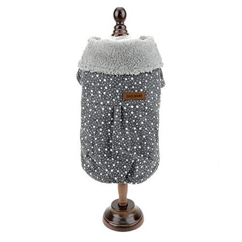 smalllee_lucky_store Hundepullover, mit Sternenmotiv, Fleece-gefüttert, für den Winter, Mädchen, Chihuahua Kleidung für Kleine Hunde -