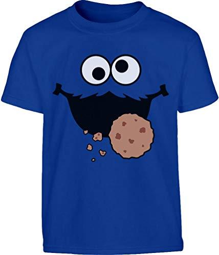 Kids Karneval & Fasching Keksmonster Krümel Kostüm Kinder und Teenager T-Shirt 9-10 Jahre (140cm) - Ernie Kostüm Shirt