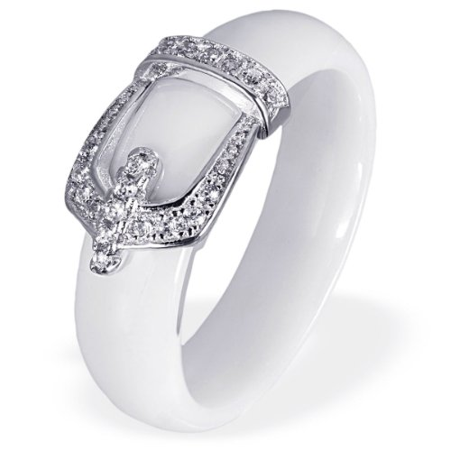 Goldmaid Damen-Ring 925 Sterling Silber Porzellan Zirkonia weiß Gr.60 (19.1) Fo R6729S60 Schmuck