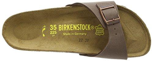Birkenstock Madrid, Mules Femme Marron (Nubuck Marron Mocca)