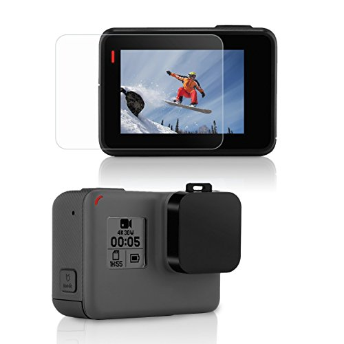 [2pcs] Protector de LCD Pantalla + Tapas de Objetivos para GoPro Hero