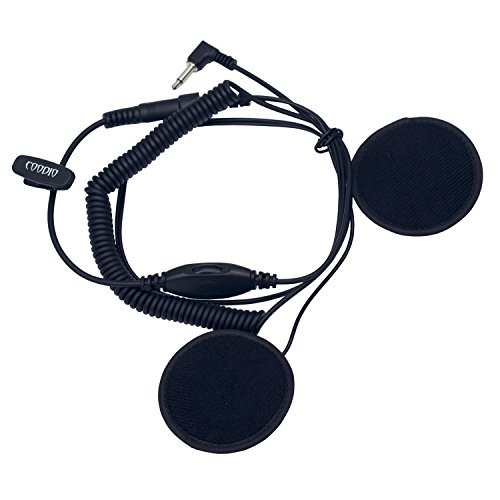 Coodio 3,5mm Nur Empfang Ohrhörer Motorradhelm Headset Motorräder Helm Ohrhörer Rollerhelm Reiner Kopfhörer Für Funkgeräte Lautsprechermikrofon Handmikrofon