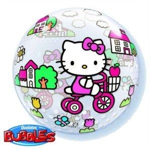 """Hello Kitty globo de equitación bicicleta burbuja 22""""Mylar foil balloon"""