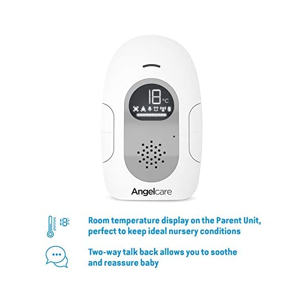 Angelcare Ac127 Baby Movement Monitor, with Sound Angelcare New smaller, wireless sensasure movement sensor pad Alarm will sound if there is no movement after 20 seconds Non-contact monitoring 4