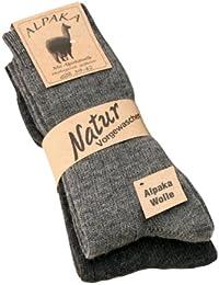 Alpaka Socken Wollsocken 100 Alpaka und Wolle dünn Herren Damen Socken mit Alpaka Wolle weich und warm, 2 Paar,