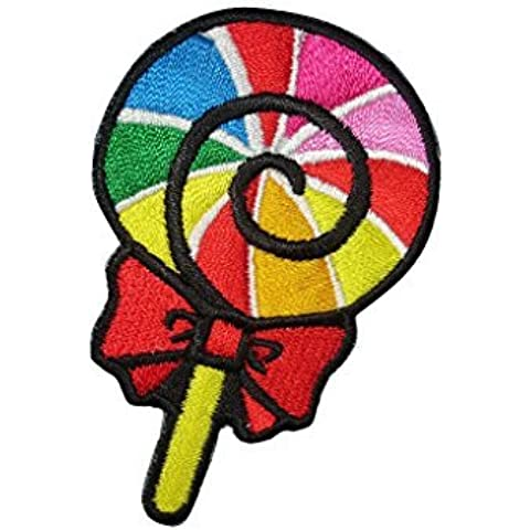LOLLIPOP LOLLY CANDY Iron On Patch (Lot of 2 pieces) Applique Motif Children Decal 2.7 x 1.7 inches (7 x 4.5 cm) by Children Patches