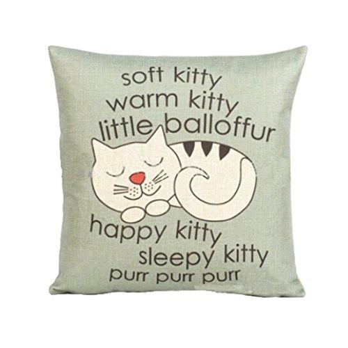 Amlaiworld Cassa del cuscino,Cat cuscino caso divano vita coperte cuscino copertina Home Decor