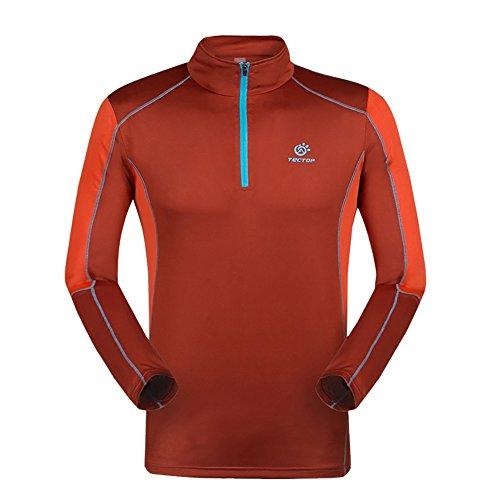 Hankyky Herren Hooded Sweatshirt Workout 1/4 Zip Langarm Sportbekleidung Pullover Hoodie für Lauftraining Ausbildung Fitness (Leichtes Langarm-ausbildung)