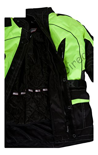Texpeed Men s High Visibility Waterproof CE Armoured Motorcycle ... 9499354d9