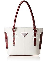 Fantosy Women's Handbag ( White An Black,Fnb-236)