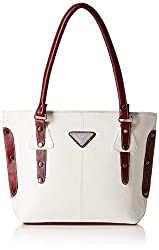 Fantosy Women's Handbag ( White An Black,Fnb-236)