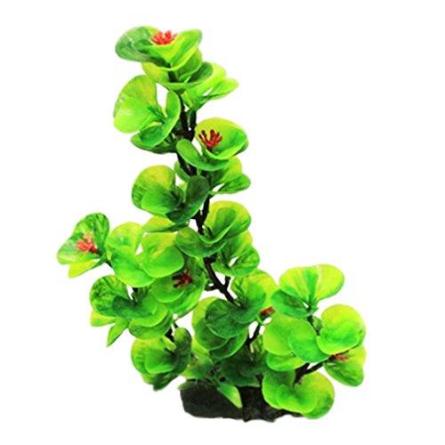 Trada Grünpflanzen-Wasser, Aquarium-Plastikdekorations-Aquarium-Gras-Zierpflanze Künstlich Pflanzen Hängende Rebe Wanddekoration Gefälschte Blume Pflanzenwand Rasenteppich Dekoration (Grün)