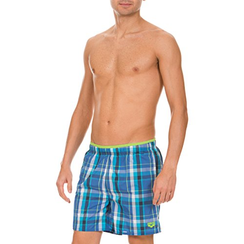 Arena short de bain pour homme yarn dyed boxers à carreaux Bleu - Royal, Energy-Green