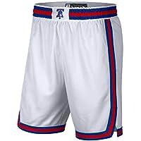 WWWJ Philadelphia 76ers Cream 2019/20 City Edition Swingman Pantalones cortos de entrenamiento y competición para hombre, secado rápido, absorbente de sudor, para hombre