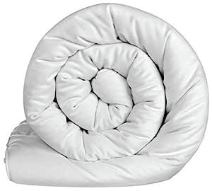 Acmura 400 GSM Microfiber Comforter (King Size, White)
