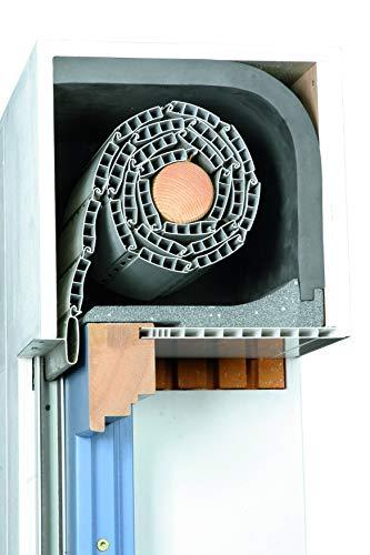 DIHA Rollladendämmung KOMBI-FLEX PE, Rollladenkastendämmung mit Dämmstärken 25 mm (Verschlußdeckel 240 x 1000 mm), flexible Dämmmatten