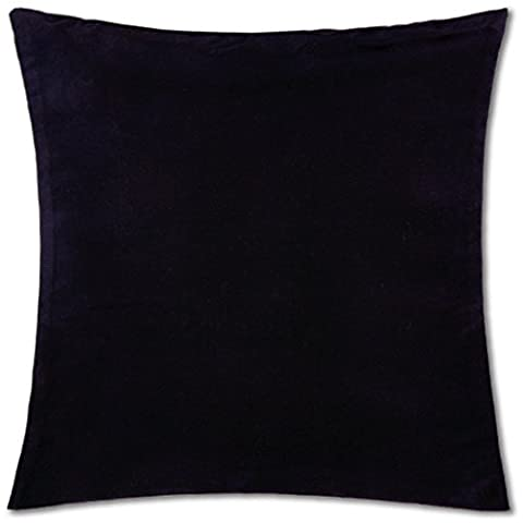 Kissenhülle ( 100 Größen und Farben ) mit und ohne Füllkissen, Serie: Ellen, Kissenbezug Dekokissen, Auswahl: 40x40cm ohne Füllung schwarz - black