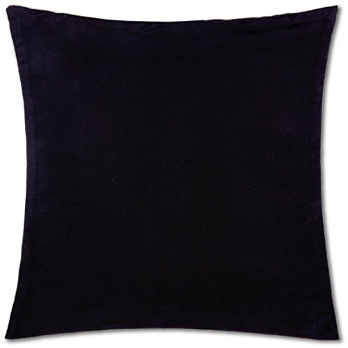 Kissenhülle ( 100 Größen und Farben ) mit und ohne Füllkissen, Serie: Ellen, Kissenbezug Dekokissen, Auswahl: ca. 60 x 60cm ohne Füllung schwarz - black