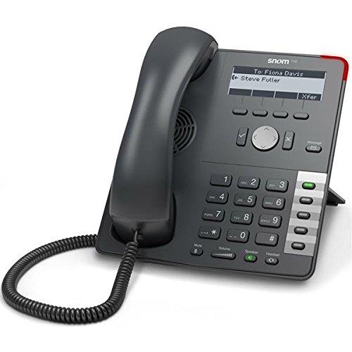 SNOM Telefono Aziendale Professionale VoIP/Sip 710, Display con retroilluminazione, Interruttore Ethernet, Interruttore di Blocco sensore, 4 identità Sip, IPv6; 2793 (Certificato ricondizionato)