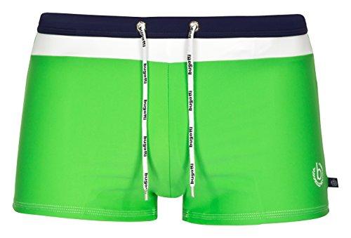 bugatti® - moderne Herren Badehose / Badepants in grün, marineblau, rot, schwarz oder türkis Grün