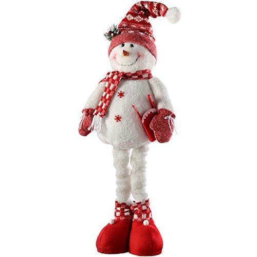 WeRChristmas–Decoración de Navidad muñeca de Nieve con piernas Extensibles,...