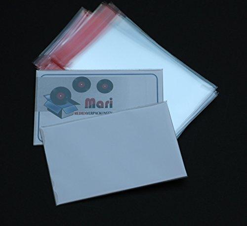25 St. Visitenkarten Klarsichthüllen hochtransparent 56 x 86 + 16 mm Klappe 30 mµ mit Klappe und Verschluss