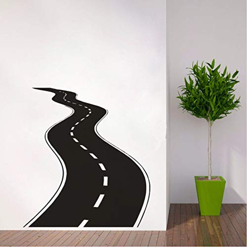 e Wandtattoo Vinyl Wandaufkleber Reifenspuren Wandkunst Autobahn Weg Garage Wandmalereien Neue Design Straße Tapete ()