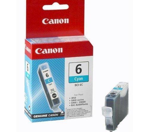 Canon 4706A002–Tintenpatrone BCI-6–Cyan (Inkjet-patrone Bci-3 Canon)