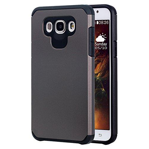 Galaxy J7 2016 Hülle Outdoor Rosa Schleife® PC Hard Back Cover Weich Silikon Bumper mit Dual Layer Schutz Hybrid Case Schutzhülle Handyhülle für Samsung Galaxy J7 2016 / J7109 / J7108 (5.5 Zoll)