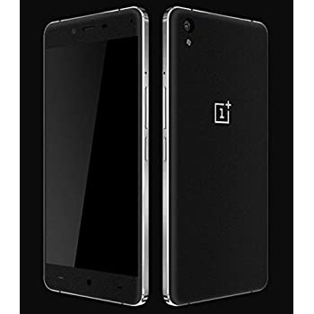 GADGETS WRAP Oneplus x or One Plus x Black Matte Skin Front Back Both A3A02