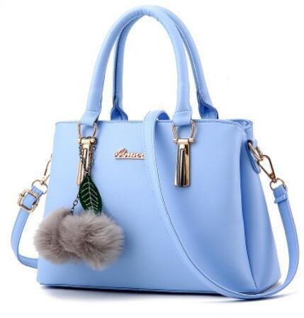HQYSS Damen-handtaschen PU-Leder geprägte Atmosphäre weibliche OL s Schulter Messenger Tasche days blue