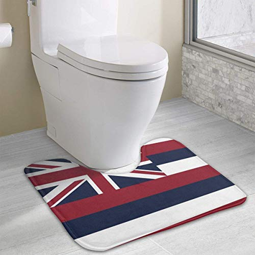 Hawaii State Flag Soft Absorbent Bathroom Non-Slip Carpets Bademattes Rug (Halloween Ball State)