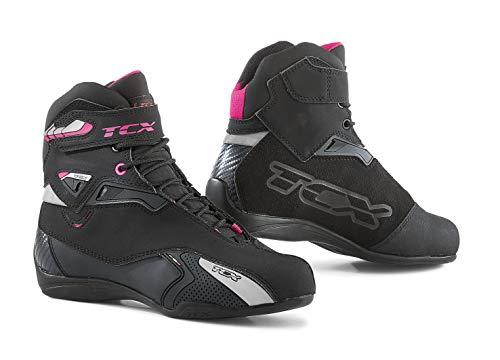 TCX Stivali Moto Rush Lady WP Nero/Fucsia, Nero/Fucsia, 35
