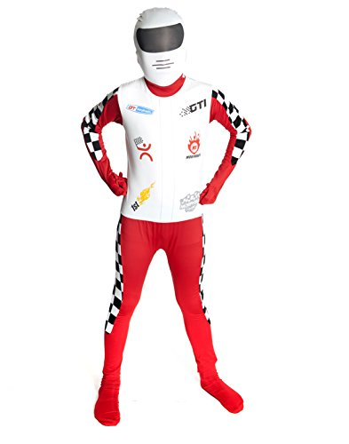Morphsuits KPRAM - Kinder Kostüm Rennfahrer, (Rennfahrer Anzug Kostüm)