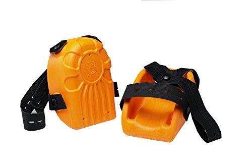 Kronen Hansa Knieschoner Ergo-Maxi Kastenform, orange, zertifiziert DIN EN 14404, Z372290