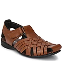 Andrew Scott Men's Synthetic Leather Casual Sandal