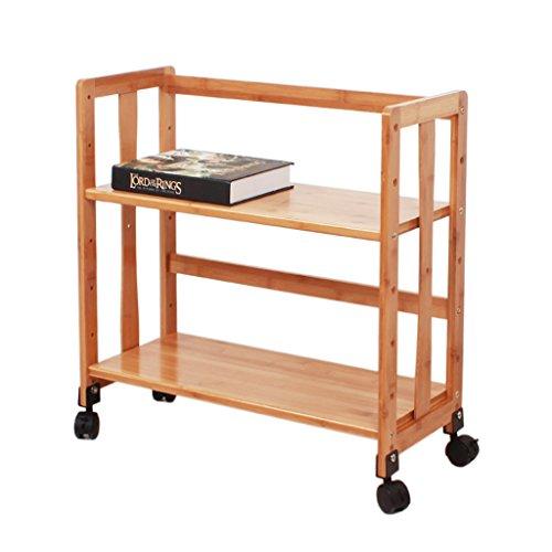 KaiGangHome Einfaches Landegestell auf Rollen Kleines Bambus-Lernregal auf modernen...