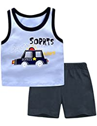 d823828ebf63 chicnchic Baby Boys Summer Clothes Sleeveless top Vest with Short Pants  Outfit Sets (18m(