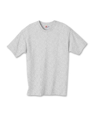 Hanes Jungen Asymmetrischer T-Shirt Gr. X-Large, Grau - Light Steel - Hanes Kinder T-shirt