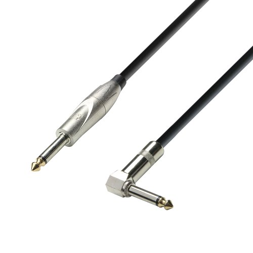Adam Hall Cables K3IPR0300 3 Star Serie Instrumentenkabel (6,3mm Klinke mono auf 6,3mm Winkelklinke mono, 3m)