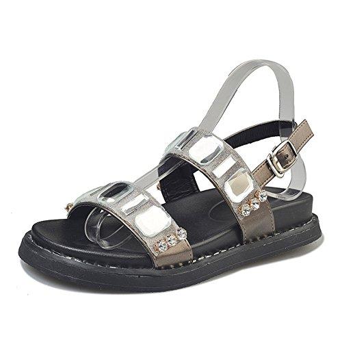 Sommer,flach,weibliche sandalen/joker damenschuhe fashion-A Fußlänge=23.3CM(9.2Inch) (Ted Baker-flache Sandalen)