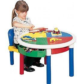 Liberty House Toys runder Aktivitätstisch mit 4Schubladen Aktivität Runde Tisch