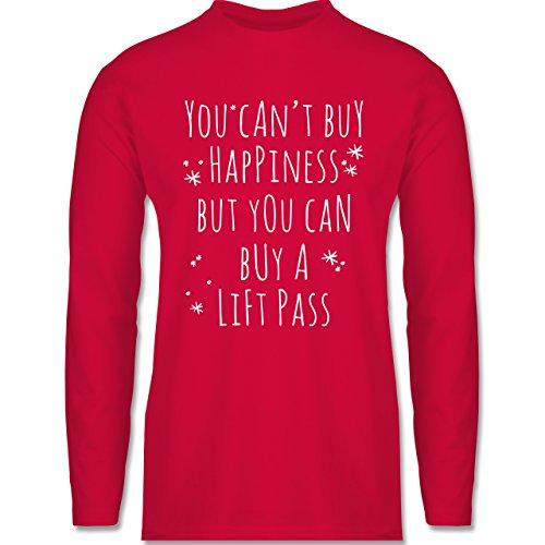 Shirtracer Wintersport - Buy Happiness Lift Pass Ski Snowboard - Herren Langarmshirt Rot